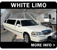 White Lincoln Town Car With 8 Seats